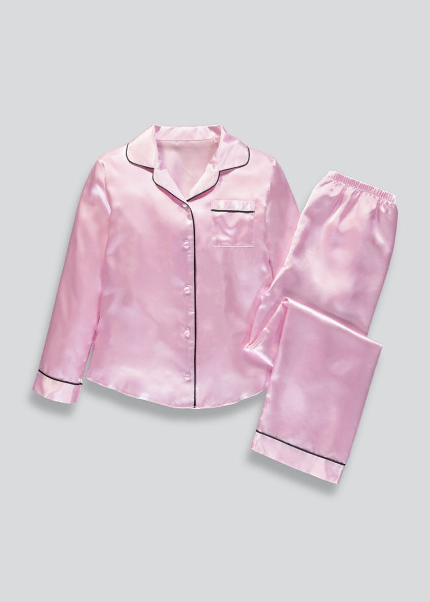 Girls Candy Couture Piped Satin Pyjamas (9-16yrs)
