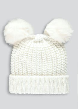 Unisex Double Pom Pom Metallised Bobble Hat (3mths-3yrs)