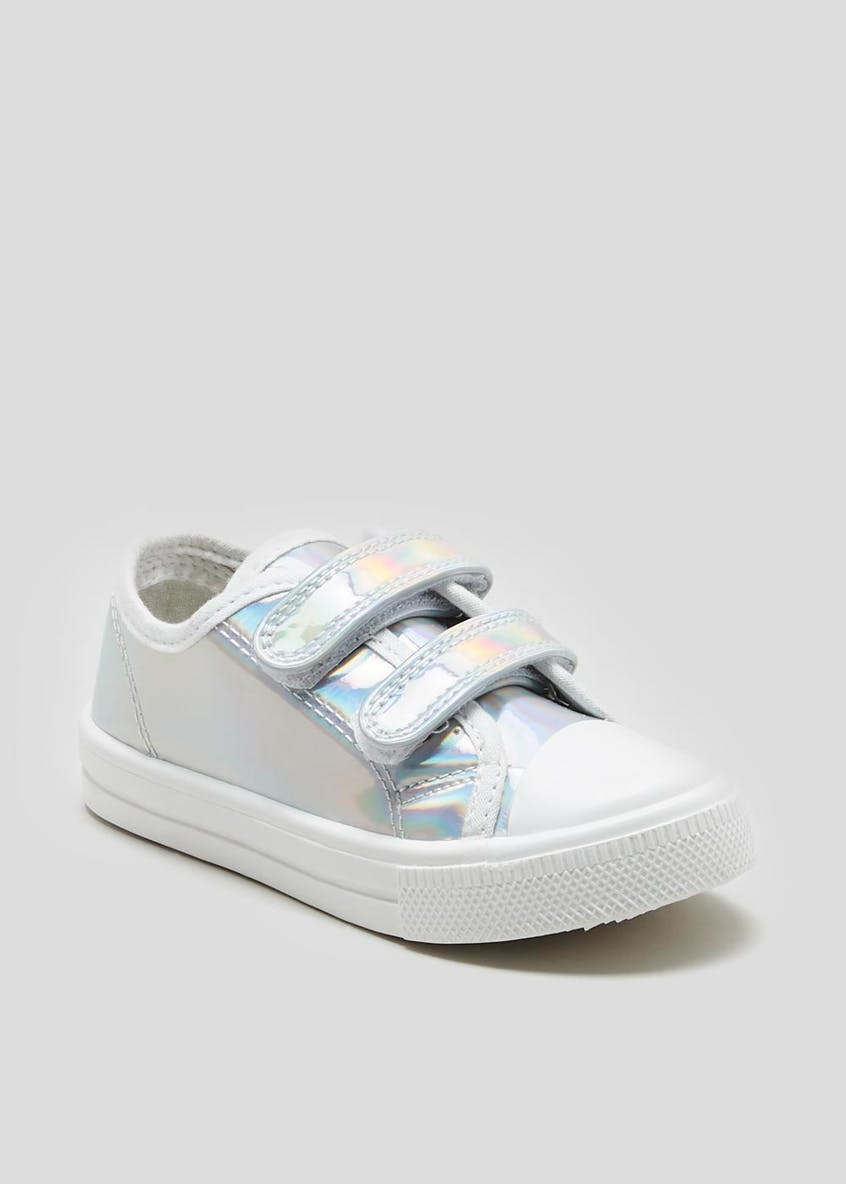 Girls Metallic Double Strap Pumps (Younger 4-12)