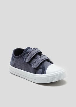 Kids Chambray Double Strap Pumps (Younger 4-12)