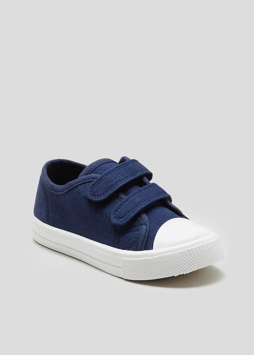 Kids Double Strap Canvas Pumps (Younger 4-12)