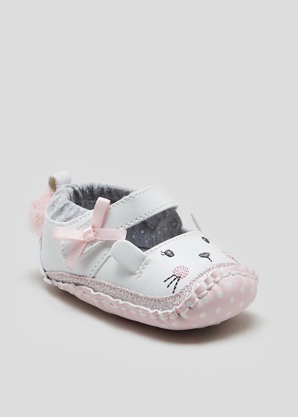 Girls Soft Sole Bunny Moccasin Baby
