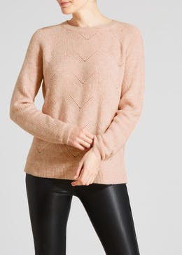 Fluffy Moss Stitch Lounge Jumper
