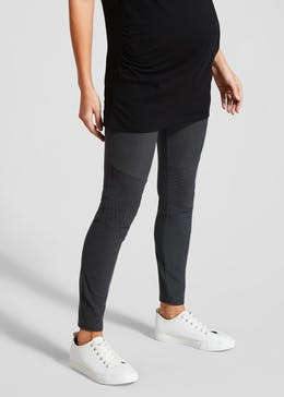 Maternity Biker Jeggings