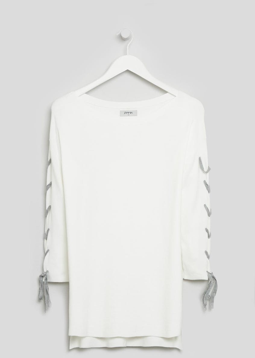 Soon Lace Up Sleeve Jumper