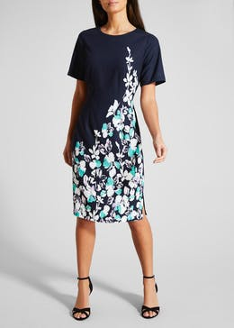 FWM Floral Placement Print Midi Dress