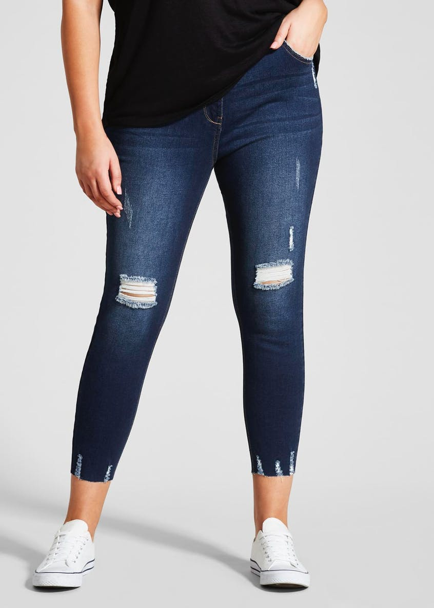 Papaya Curve April Super Skinny Ripped Jeans