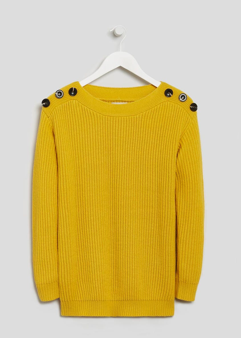 Soon Button Sleeve Jumper