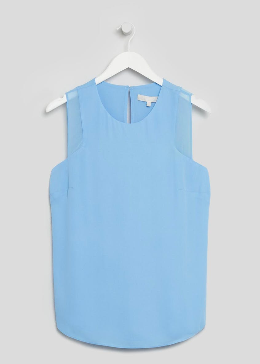 FWM Chiffon Panel Sleeveless Blouse
