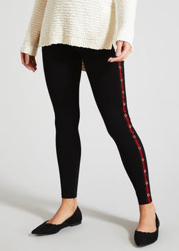 Studded Side Stripe Leggings