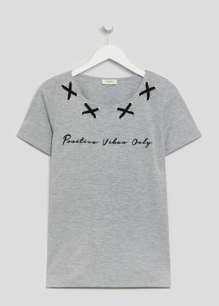 Positive Vibes Slogan T-Shirt