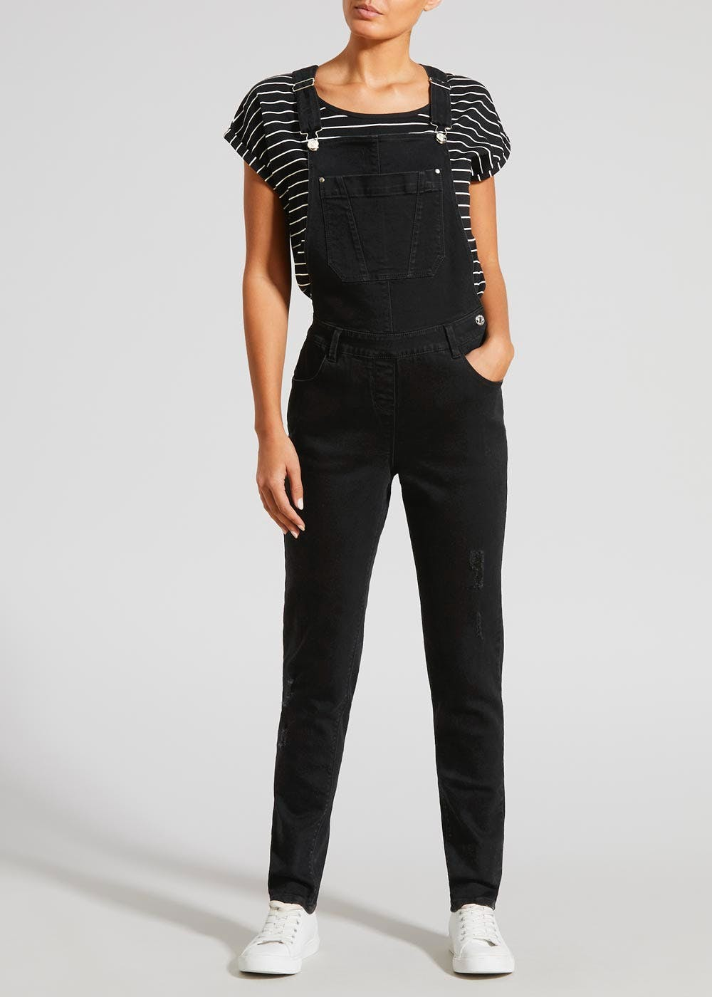 Denim Dungarees Black Matalan