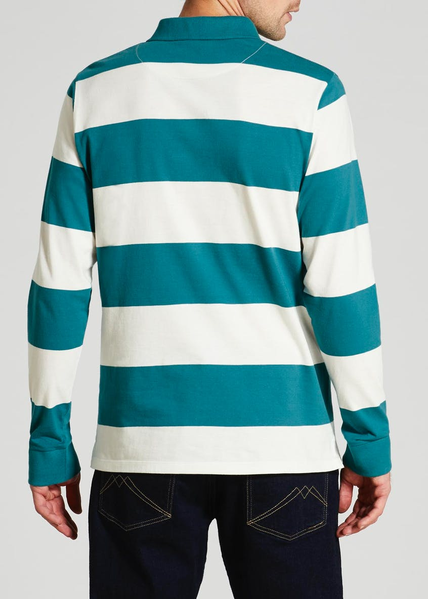 Stripe Rugby Polo Shirt
