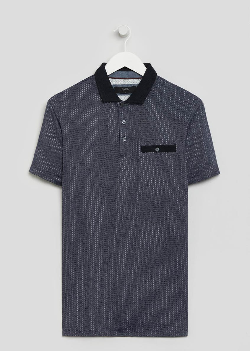 Short Sleeve Jacquard Polo Shirt