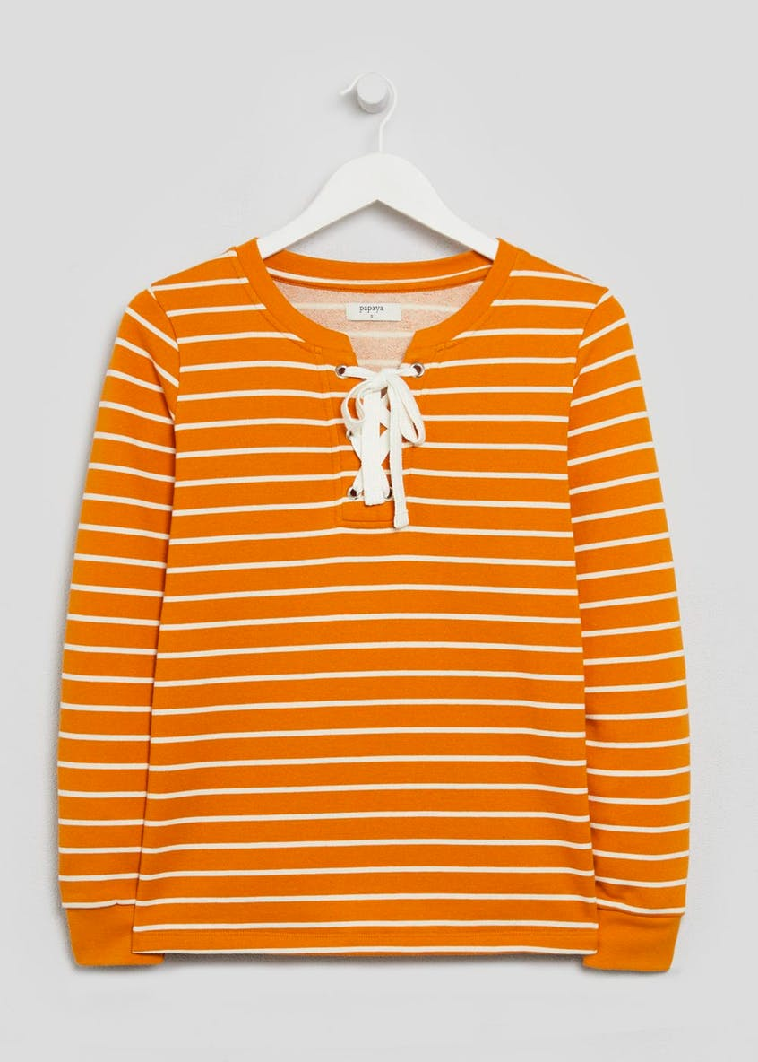 Lattice Stripe Sweatshirt