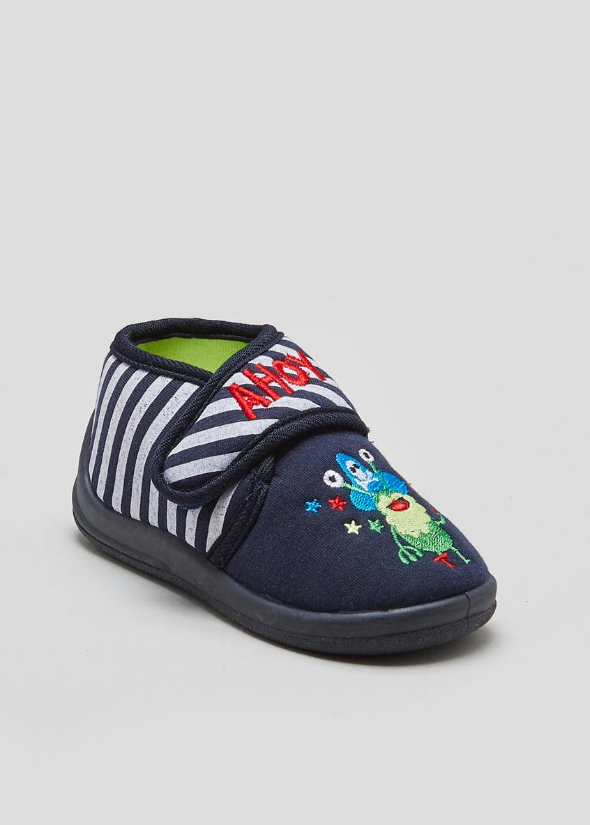 Kids Pirate Monster Co-Ord Slippers (Younger 4-12)