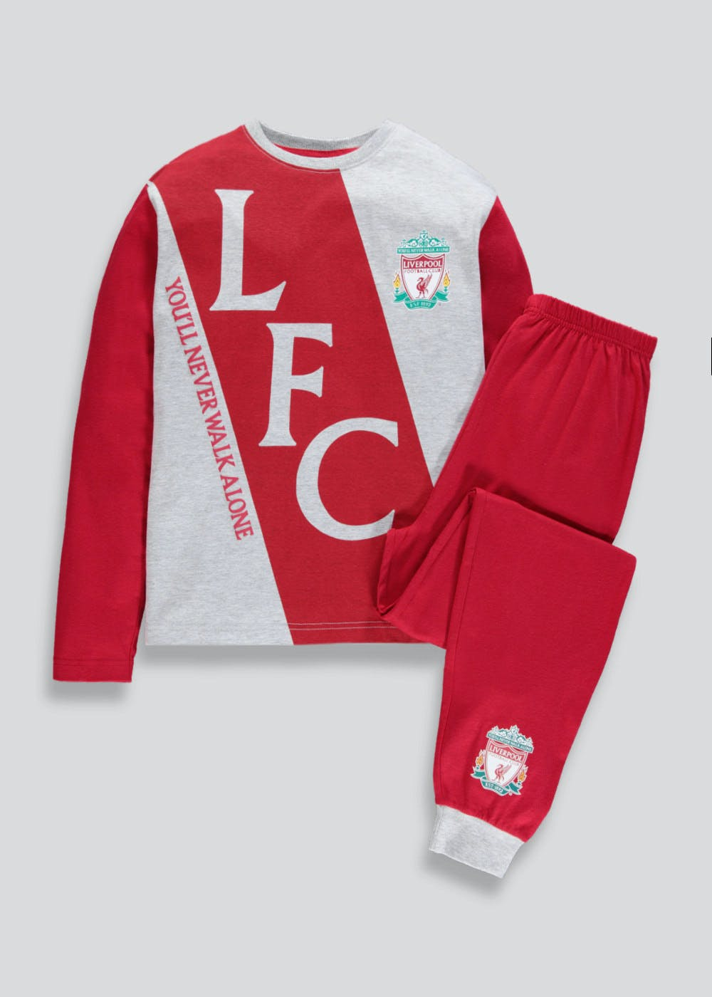 f14429b14f4 Kids Liverpool FC Pyjama Set (3-13yrs) – Red – Matalan
