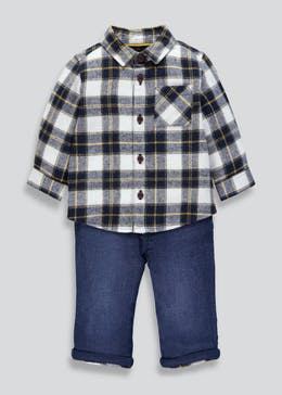 Boys Check Shirt & Jeans (Newborn-18mths