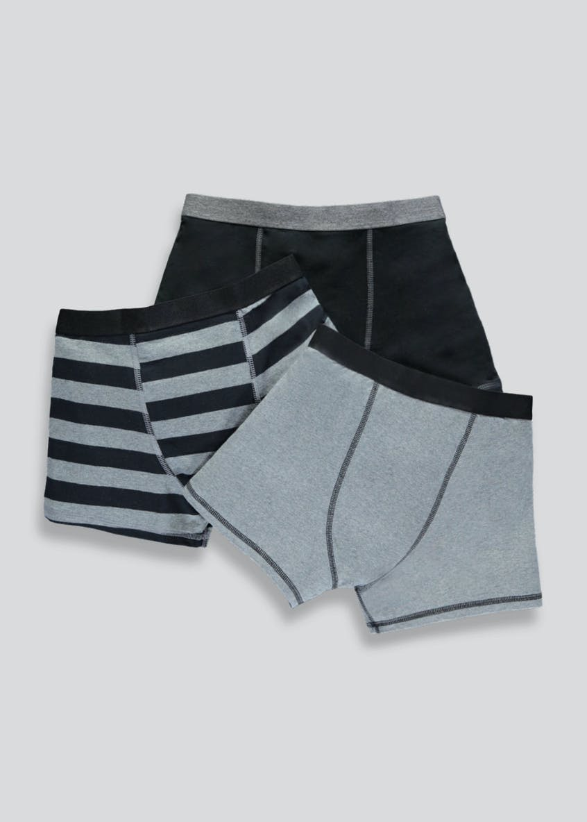 Boys 3 Pack Stripe Trunks (4-16yrs)