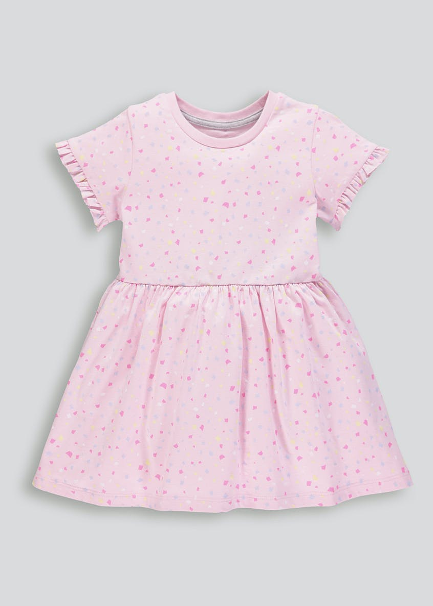 Girls Confetti Print Jersey Dress (9mths-6yrs)