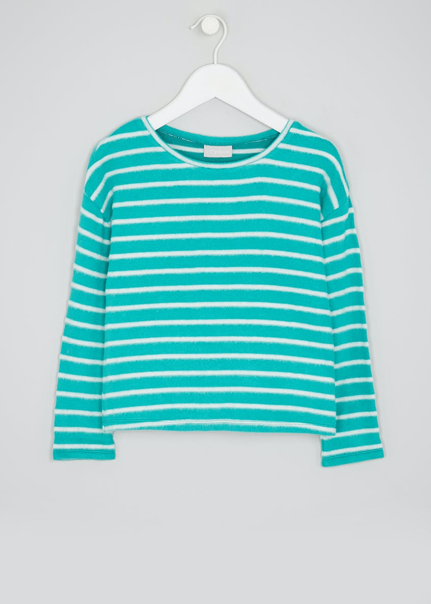 Girls Stripe Soft Touch T-Shirt (4-13yrs)