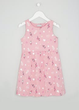 Girls Flamingo Dress (4-13yrs)