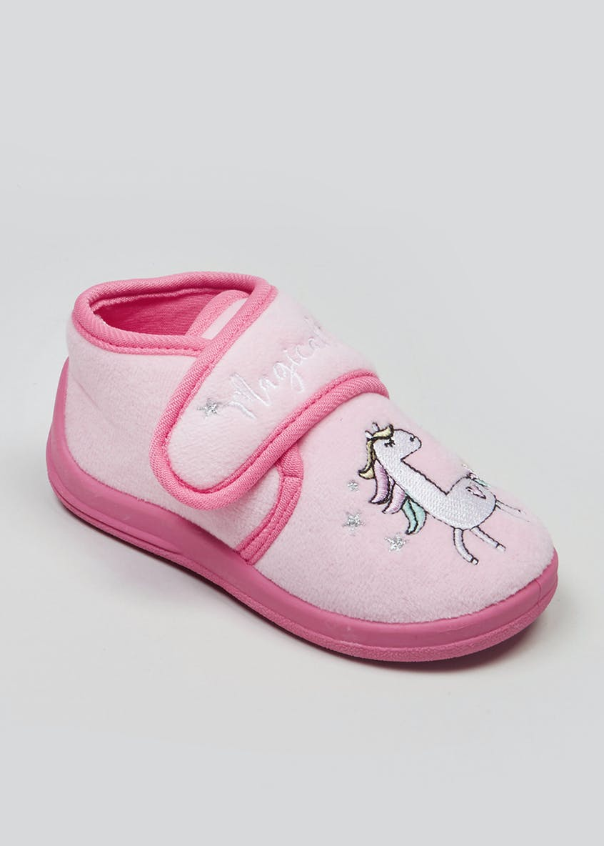 Kids Co-Ord Unicorn Slippers (Younger 4-12)