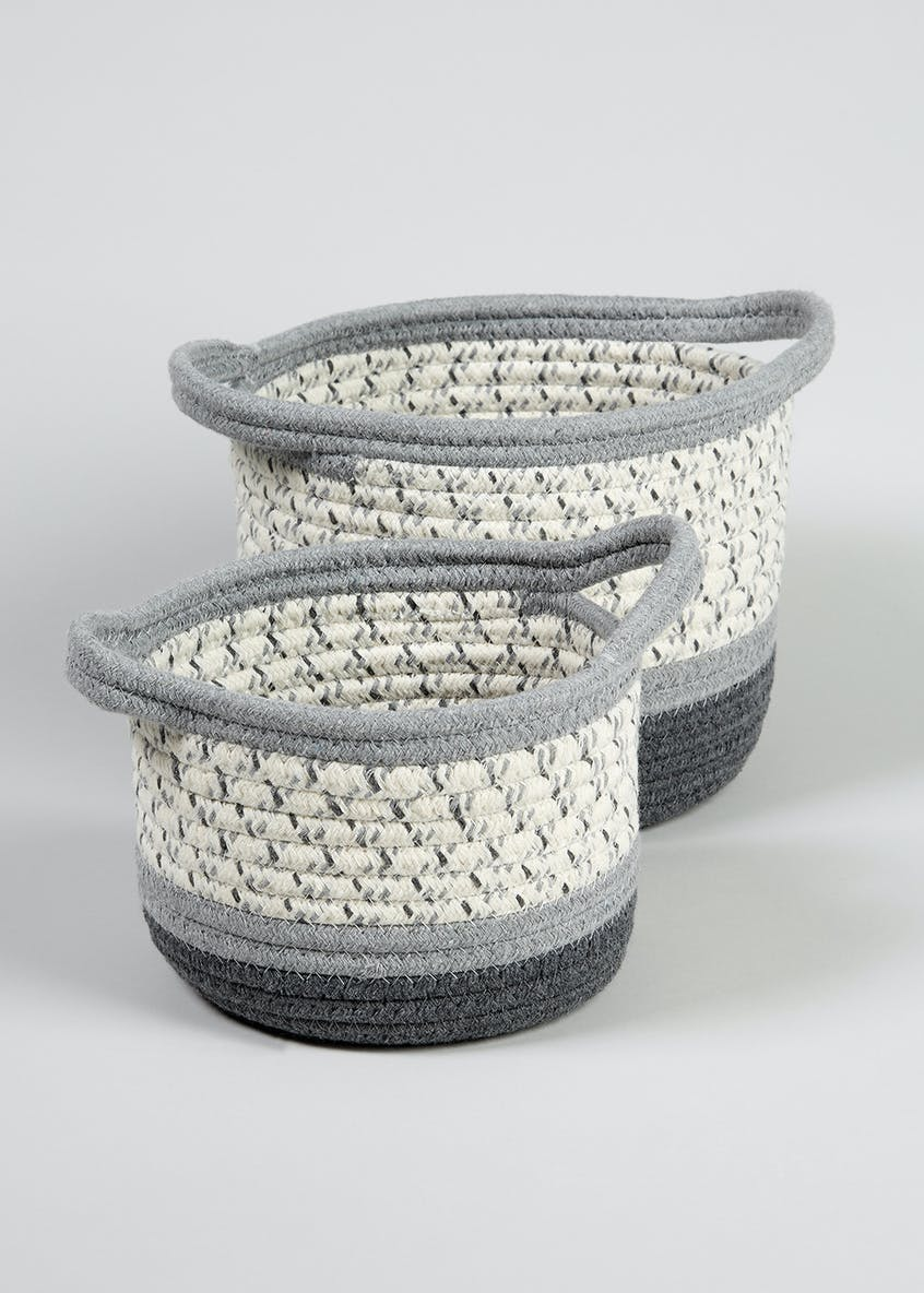 Set of 2 Rope Baskets