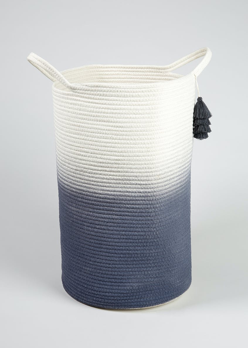 Ombre Rope Laundry Basket
