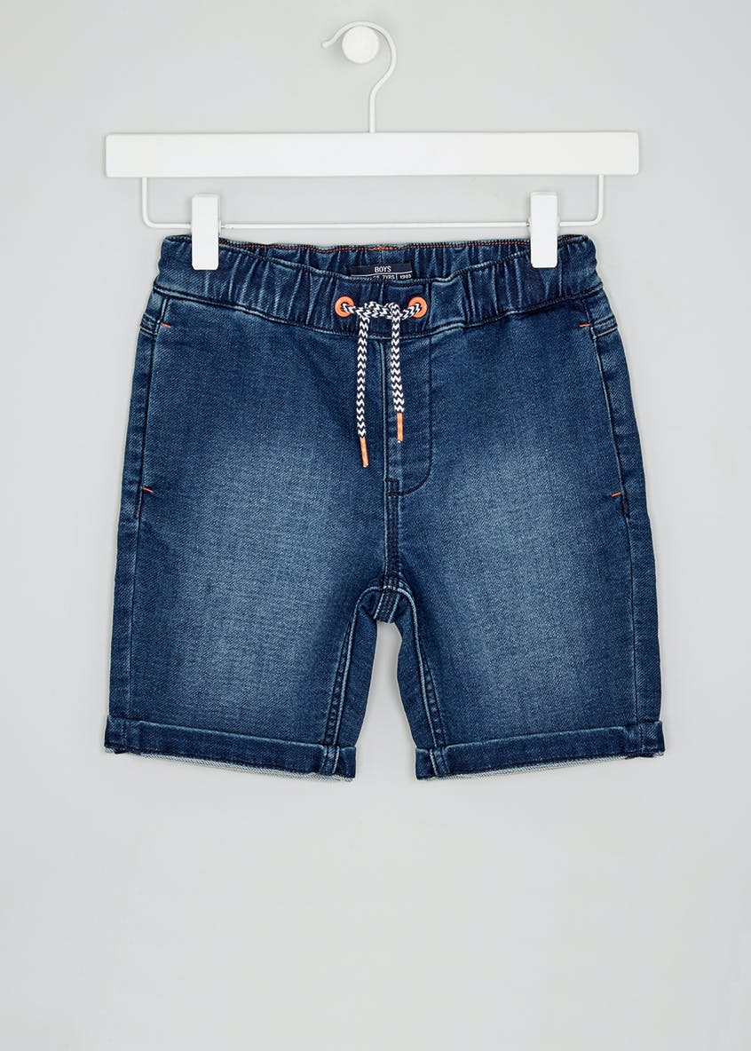 Boys Jersey Denim Shorts (4-13yrs)