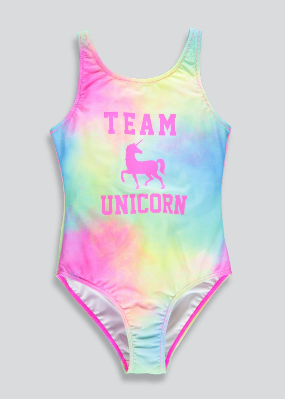 4b28ff268c90b Girls Candy Couture Unicorn Swimming Costume (9-16yrs) – Pink – Matalan