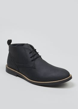 Waxy Leather Desert Boots