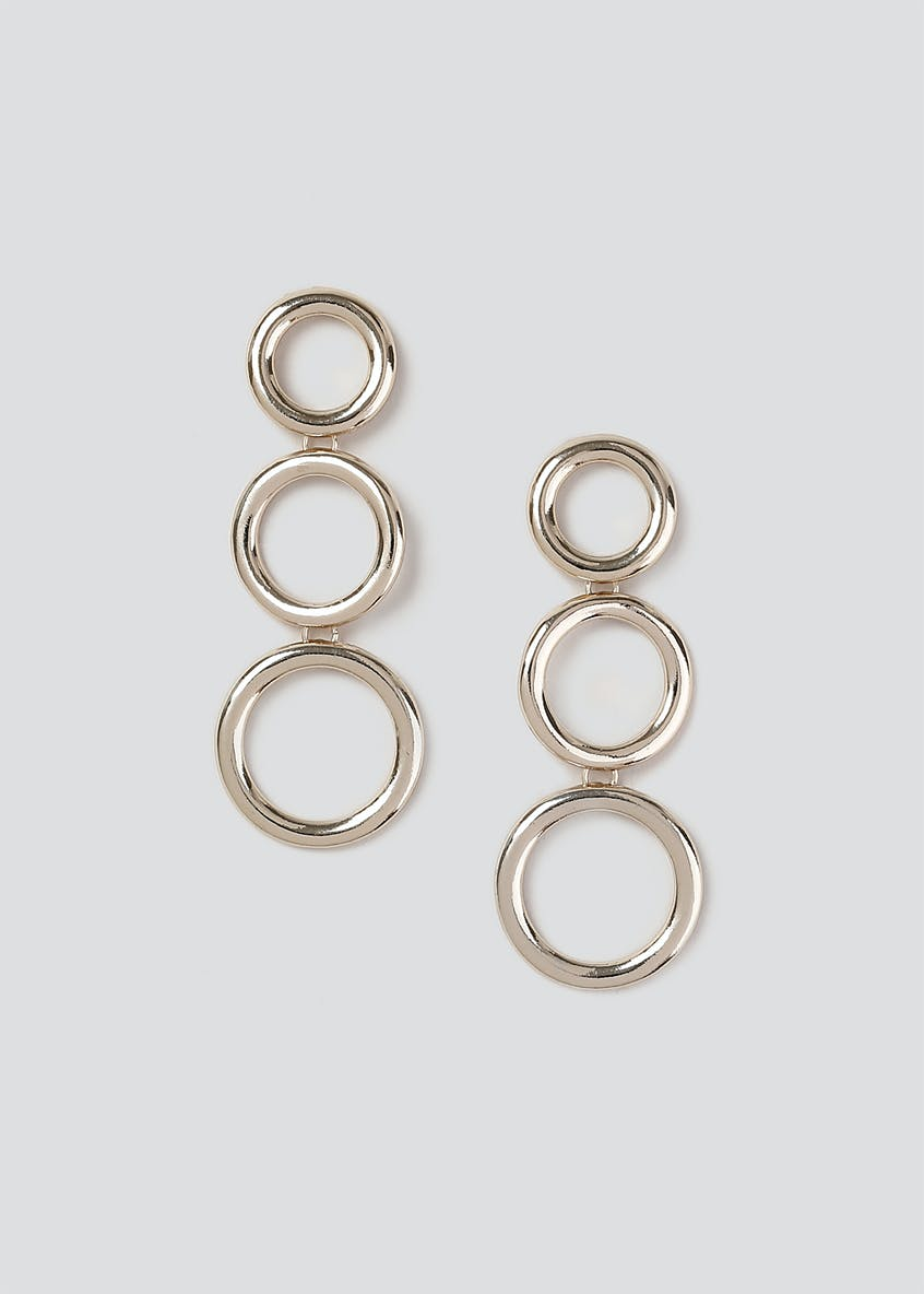 Graduated Hoop Drop Earrings