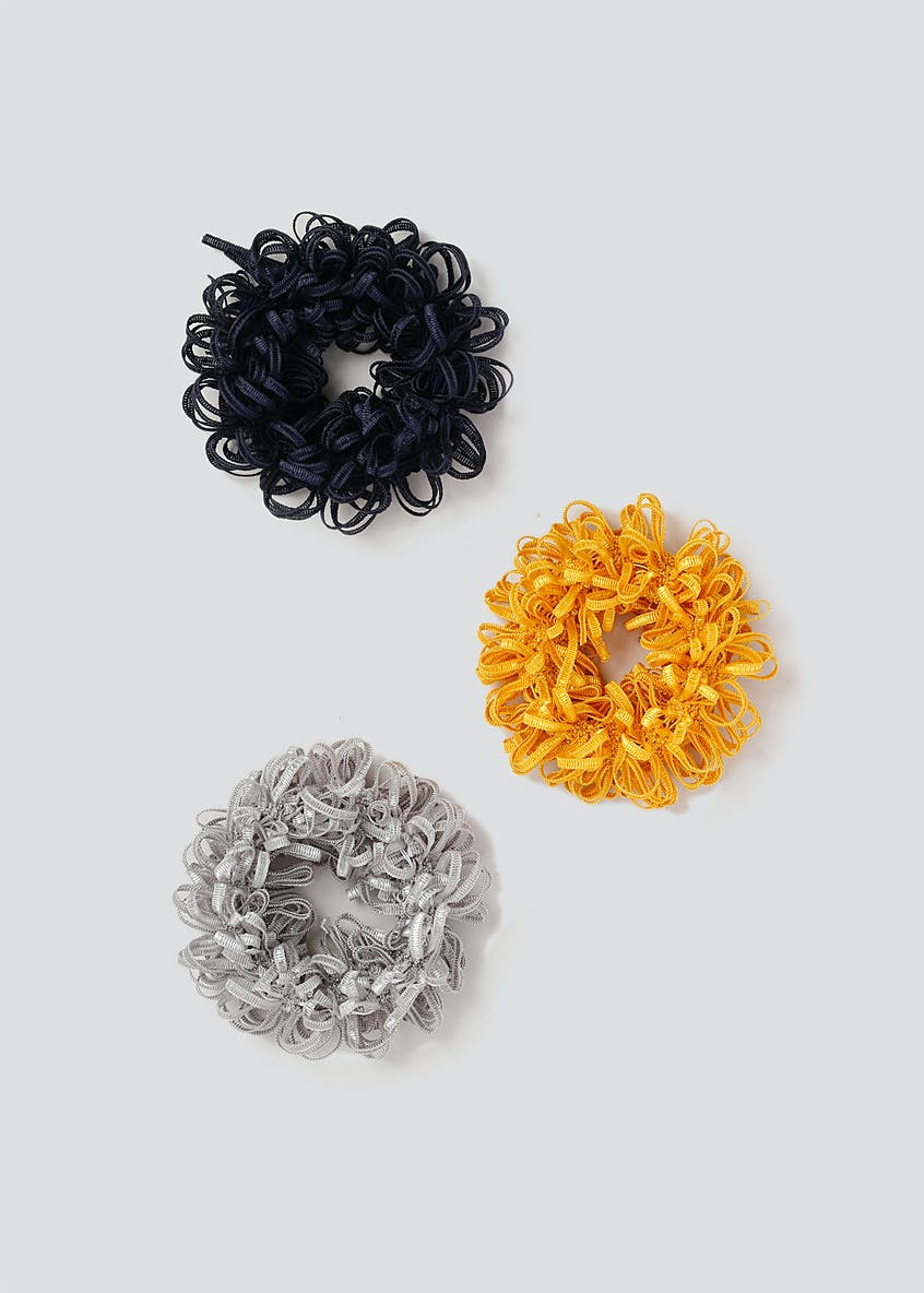 Ruffle Hair Scrunchie 3 Pack