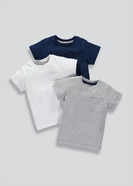 Kids 3 Pack T-Shirts (9mths-6yrs)