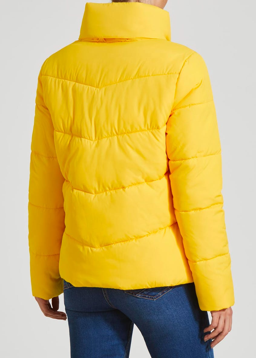 Short Padded Concealed Hood Coat