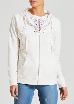 Falmer Cutwork Zip Through Hoodie