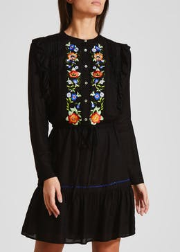 Falmer Floral Embroidered Shirt Dress