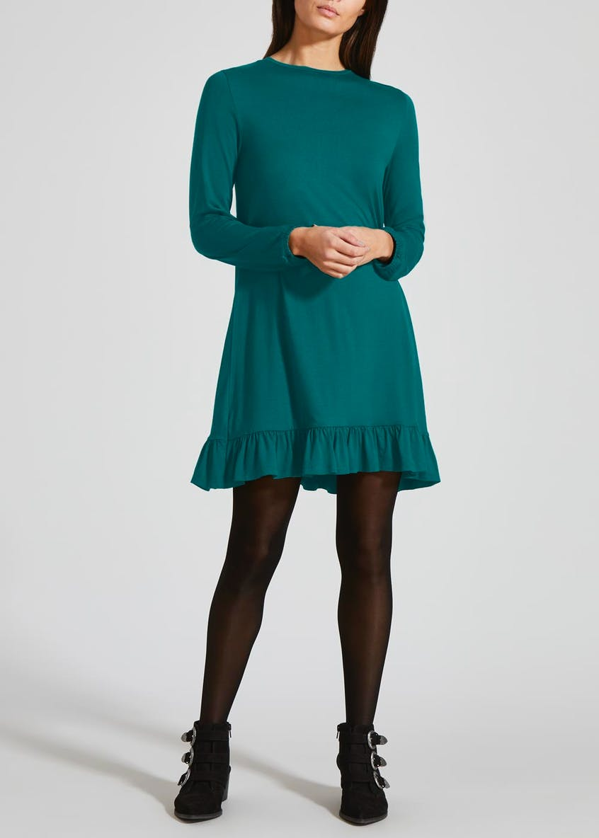 Peplum Hem Jersey Dress
