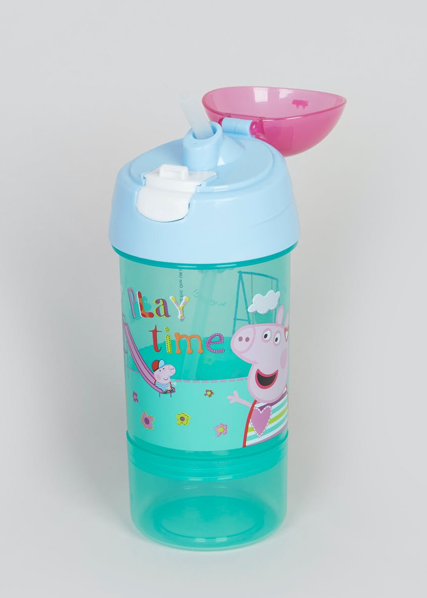Kids Peppa Pig Water Bottle & Snack Pot (20cm x 7cm)