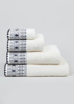 Embroidered Border Towels