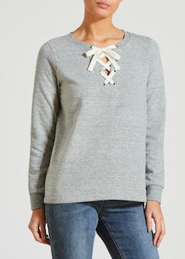 Lattice Front Sweatshirt