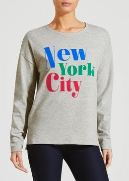 6855b8cfb3cb1 New York City Slogan Sweatshirt