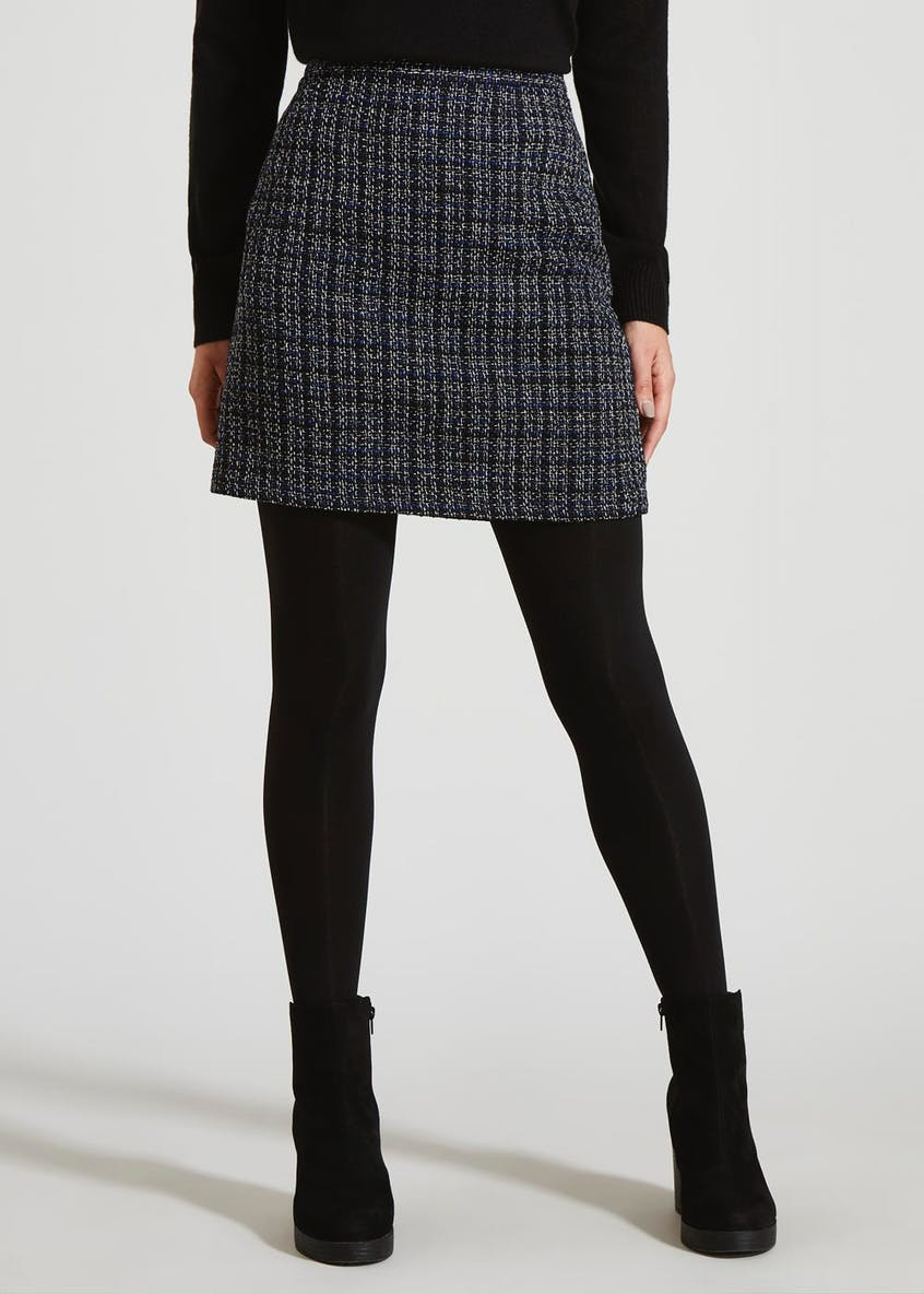 Check Jacquard A-Line Skirt