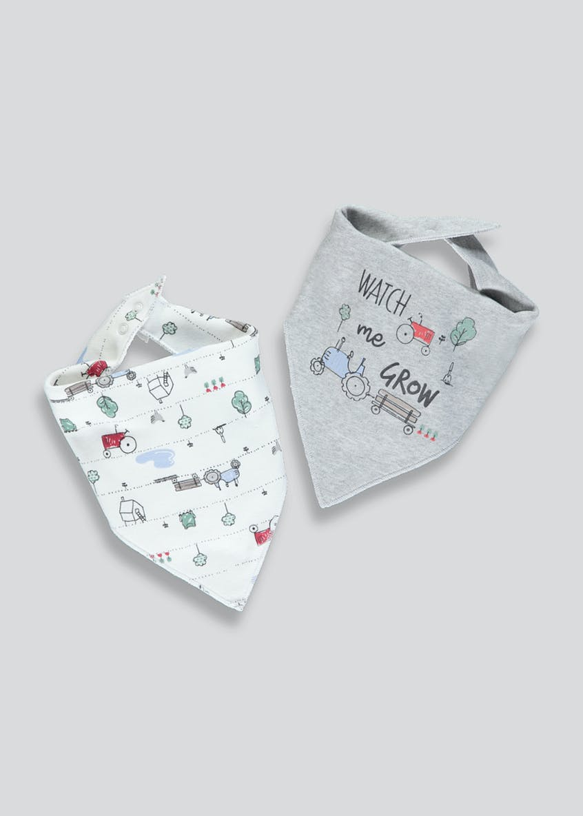 2 Pack Farm Bandana Bibs (One Size)
