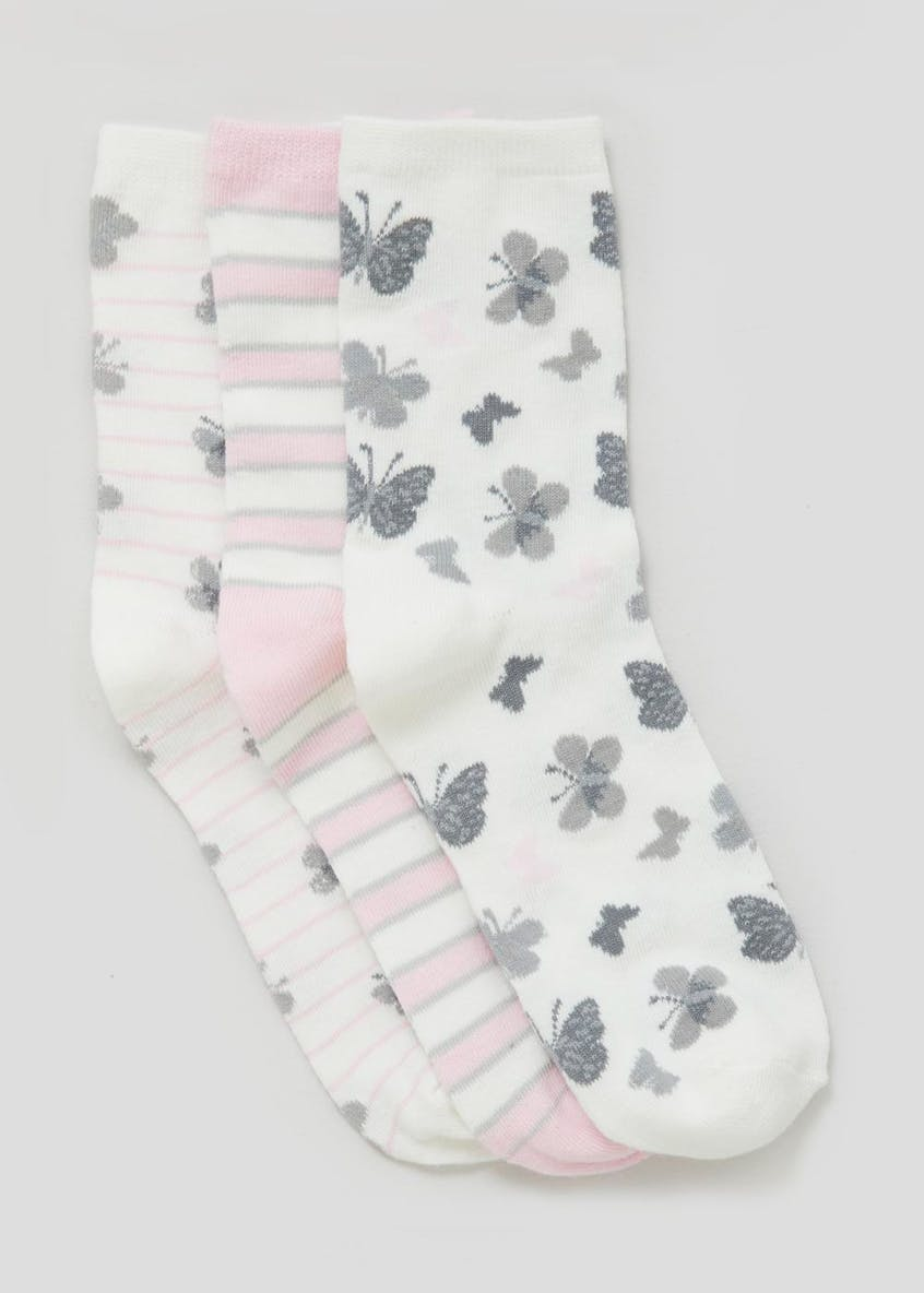 3 Pack Butterfly Ankle Socks