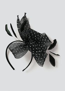 Polka Dot Fascinator Headband