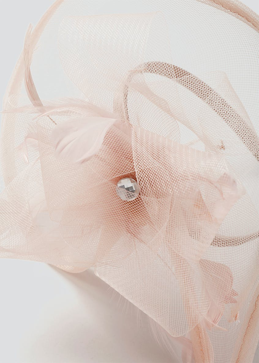 Pink Feather Saucer Fascinator