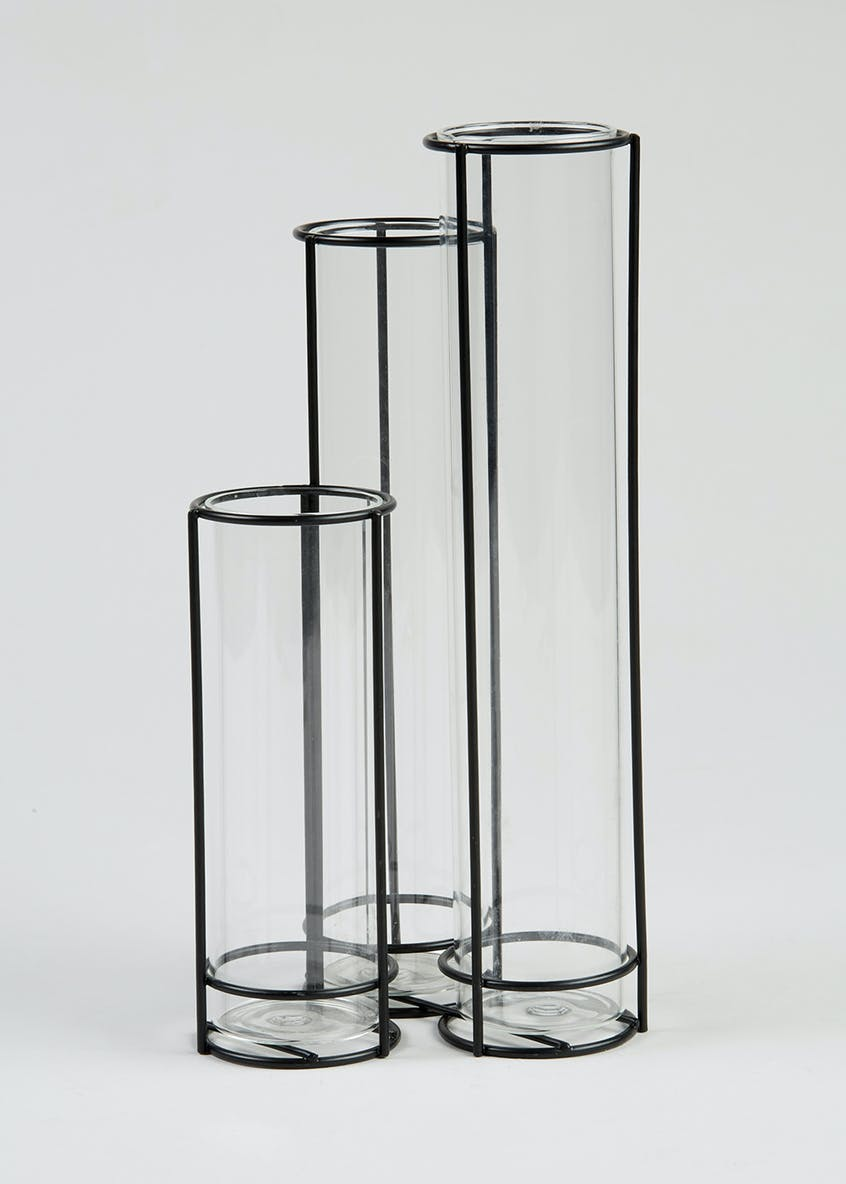 Test Tube Vase Rack (26cm x 11cm x 11cm)
