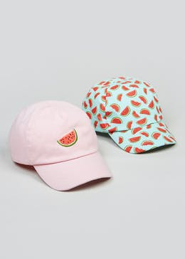 0f6a5dbd97c Kids 2 Pack Watermelon Caps (3-13yrs)